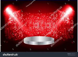 Stage Lights Dark Red Background Vector Stock Vector ...