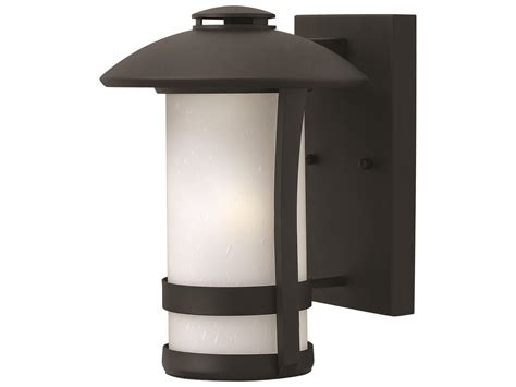 hinkley lighting chandler black led outdoor wall light