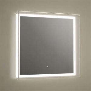 Miroir salle de bain 60x60 cm eclairage led anti buee for Miroir salle de bain 60x60