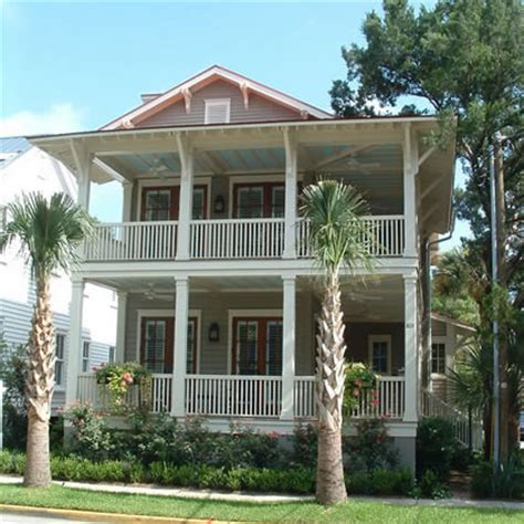 Traditional Floor Plans, Charleston Style Narrow Lot Homes