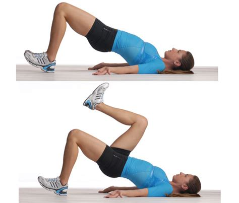 floor glute ham raise progression glute bridge with marching 5 to work your