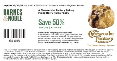 barnes and noble king of prussia all you need cheesecake factory coupons
