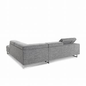 canape d39angle cote droit design 5 places avec meridienne With tapis de couloir avec canapé d angle convertible en tissu romane