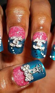 Chanel acrylic nail :) | Nail art designs, Nail art ...