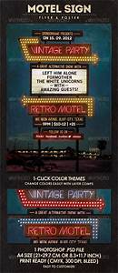 Motel Sign - Flyer & Poster | GraphicRiver