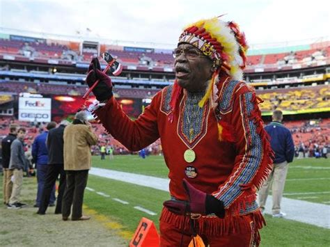 redskins mascot chief zee washington nfl team brennan fan williams senators seattle nfc playoff today seahawks sports football zema exempt