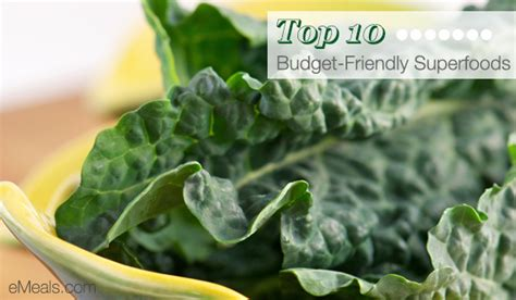 Top 10 Budgetfriendly Superfoods  The Emeals Blog