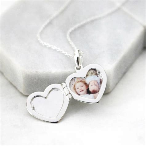 personalised message heart locket necklace  jamie london