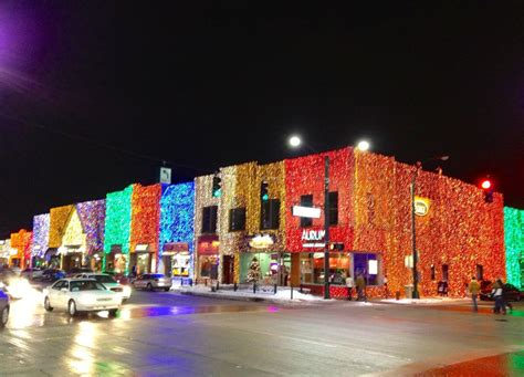 downtown rochester lights in