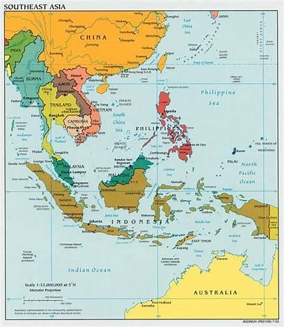 Asia Map Southeast Area Asian Asean Location
