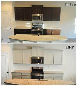 Before and after cabinets diy painting kitchen cabinets for Best brand of paint for kitchen cabinets with sticker name tags