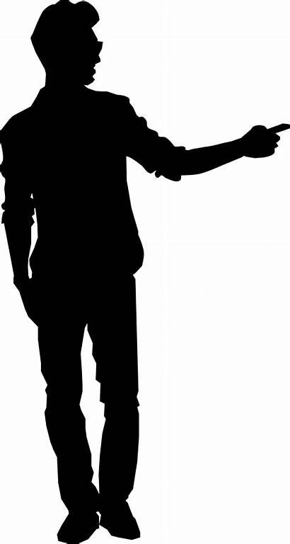 Clipart Pointing Person Silhouette Drill Clip Sillouet