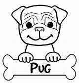 Coloring Pages Pug Cute Dog Boxer Little Print Hard Button Using Grab Well Easy sketch template