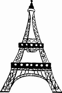 Clipart - Eiffel Tower Charcoal Sketch