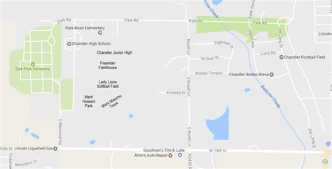 chandler public schools athletic facilities map