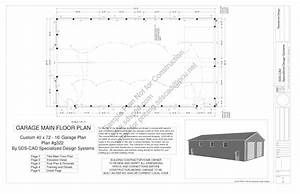 download free sample pole barn plans g322 4039 x 7239 16 With 40x72 pole barn