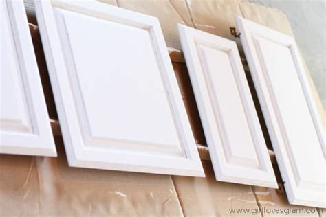 cabinet door makeover how to paint cabinets and add hardware kitchen makeover