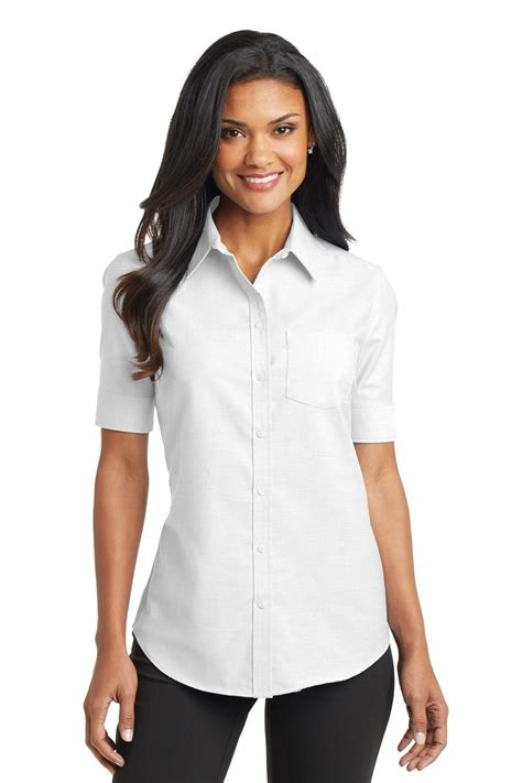 Womens Short Sleeve Blouses Button Down Breeze Clothing