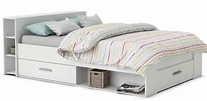 Lit Adulte Avec Rangement : comparatif meilleurs lits avec tiroir de rangement int gr ~ Teatrodelosmanantiales.com Idées de Décoration