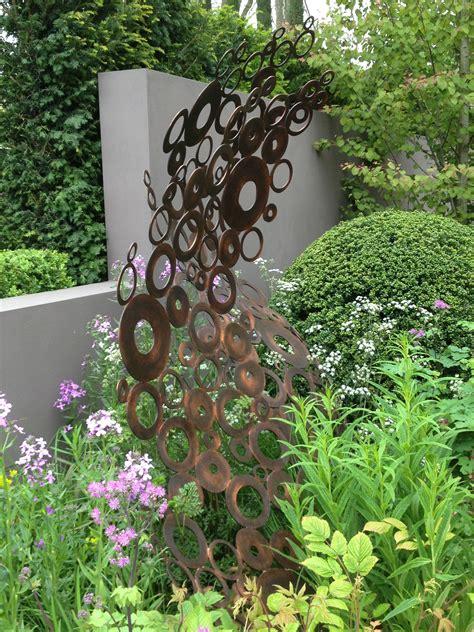 Gartenschmuck Aus Metall by Andy Sturgeons Copper Circles Sculpture