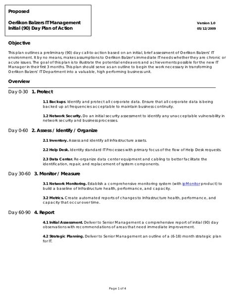90 day plan template for new manager oerlikon balzers 90 day plan of
