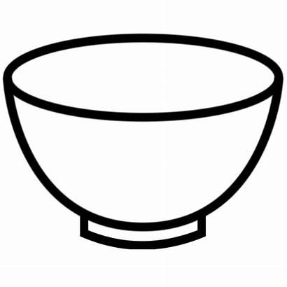 Bowl Clipart Empty Clip Plate Soup Outline