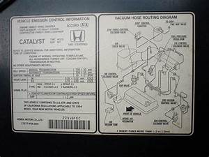 1985 Accord Vacuum Diagram
