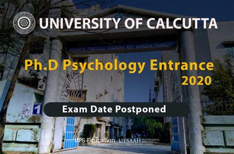 Calcutta University Ph.D. Psychology Entrance 2020 ...