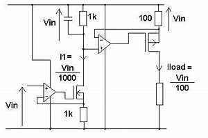 how to build a voltage controlled current sink voltage With variable bidirectional current source
