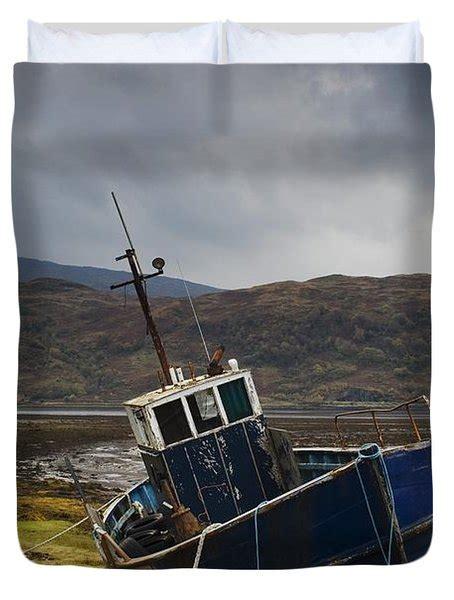 Boat Covers Scotland by Boat Ashore Loch Sunart Scotland Photograph By John Short