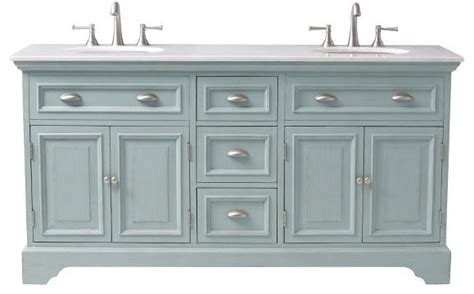 sadie double vanity antique blue shabby chic style