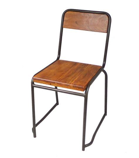 chaise metal vintage chaise industrielle bois et métal style vintage