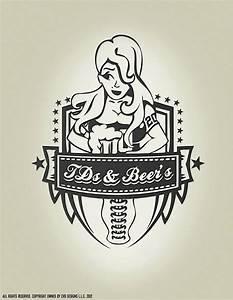 TD's and Beer flag football logo design   Logo Designs ...