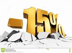 15 Percent Sale And Discount Advertisement Concept Stock