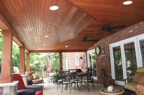 patio ceiling lights outdoor covered patio vaulted
