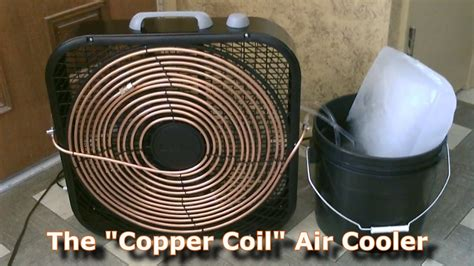 box fan sw cooler homemade ac the 39 copper coil 39 air cooler simple