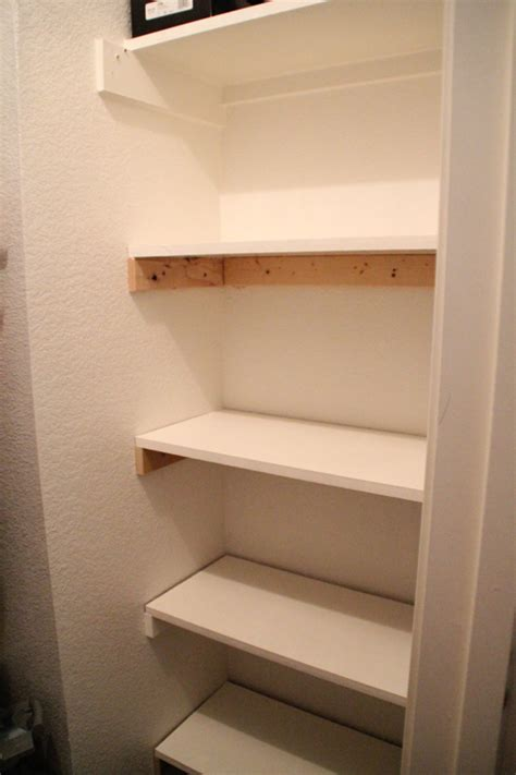 how to build closet shelves free closet storage shelves shanty 2 chic
