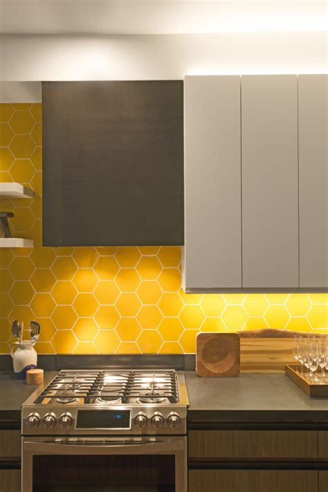 bright honeycomb tile kitchen fireclay tile