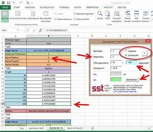 Excel Formeln Automatisch Berechnen : solid edge ber verk rzungswerte zur korrekten abwicklung cad ~ Themetempest.com Abrechnung