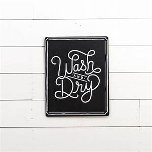 """""""Wash & Dry"""" Wooden Sign - Magnolia Chip & Joanna Gaines"""