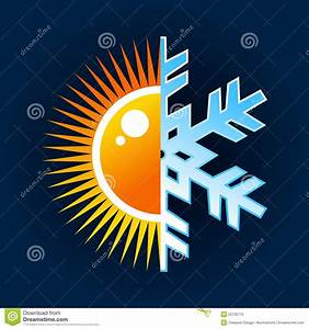 Hot And Cold Temperature Symbol Stock Vector - Image: 25130770