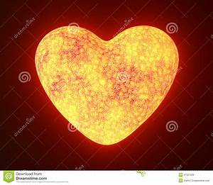 Red Hot Metal Glowing Heart Royalty Free Stock Images ...