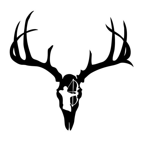 deer skull decal drop tine clipart panda  clipart