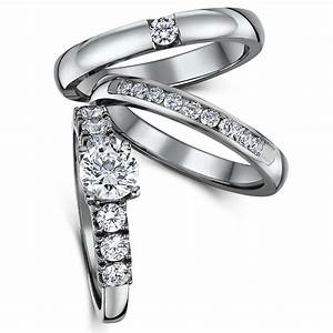 triple titanium cz bridal set engagement eternity and With engagement wedding and eternity ring sets