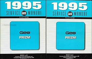 1995 Geo Prizm Repair Shop Manual Original Set