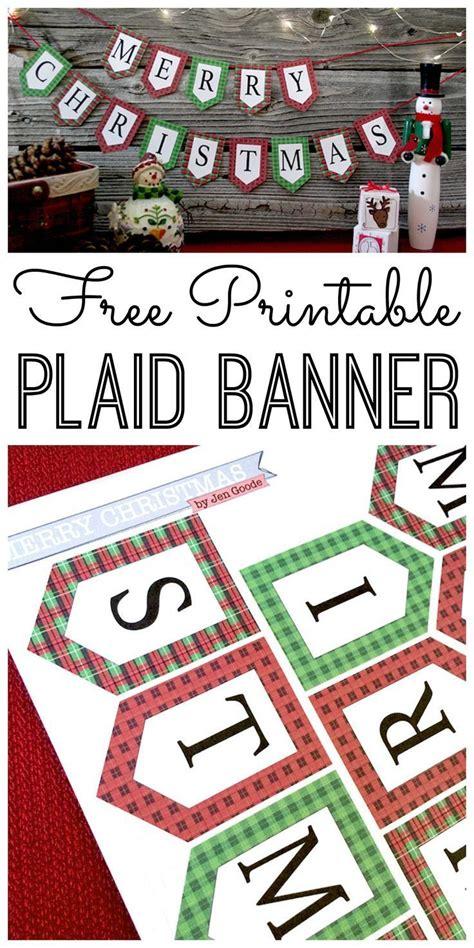 mini merry christmas banner  holiday printables blog