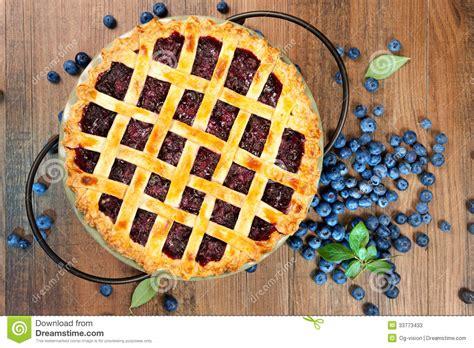 blueberry pie stock image image  view  homemade