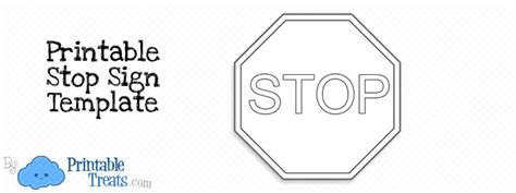 stop sign template printable stop sign template printable treats