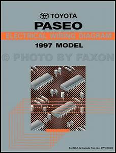 1997 Toyota Paseo Repair Shop Manual Original
