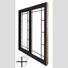 Stanley Doors 72inch X 80inch Black Double Sliding Patio